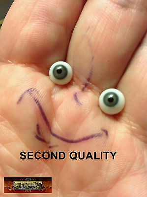 M01231 MOREZMORE SECONDS Miniature Glass Eyes 7mm GREEN 7 mm Mini Doll A60