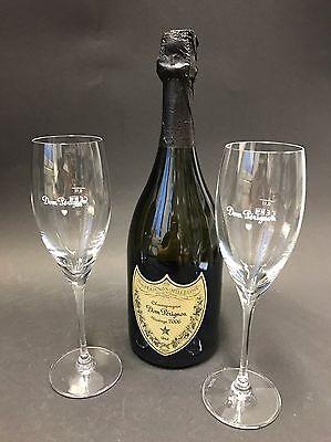Dom Perignon Vintage 2008 Champagner 0,75l Flasche + 2 Riedel Gläser 12,5% Vol.