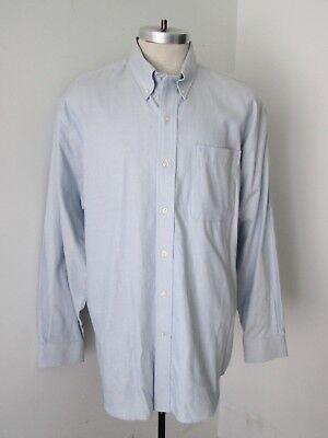 (NWT $75 Cutter & Buck Blue Gold Tiny Check Soft 100% Cotton BD Dress Shirt XL)