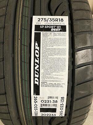 2 New 275 35 18 Dunlop SP Sport 01 DSST Run Flat Tires