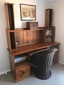 Oak Wood Study Desk Echuca Campaspe Area Preview