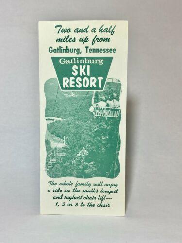 Vtg GATLINBURG SKI RESORT Travel Brochure 1970s Tennessee TN