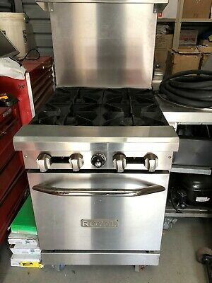 Royal 24 4 Burner Stove Gas Range Oven Nsf