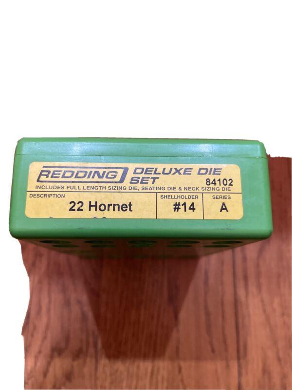 redding deluxe 3 die set 22 hornet #14 A
