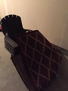 4 Plastic Adirondack Chairs and Outdoor Rug  Edmonton Edmonton Area image 1