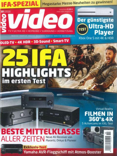 video Magazin, Heft Oktober 10/2016: 25 IFA Highlights  +++ wie neu +++