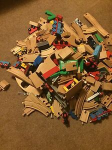 Assorted trains, tracks and pieces