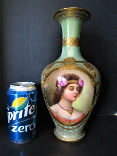 Fine Quality Large Antique KPM Porcelain Royal Vienna Hand Painted Portrait Vase