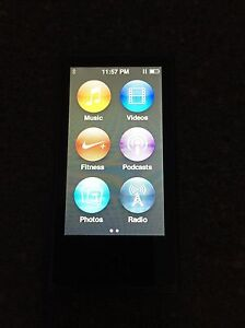 iPod Nano 16gb Slate Grey/Black Colour