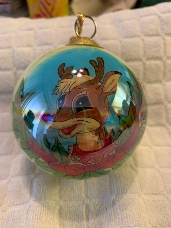 "LI Bien Rudolph The Red Nosed REINDEER Christmas Ornament 1999 3.5"""