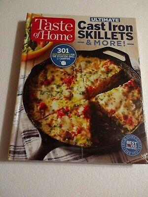 Cast Iron Skillets Cooking Cookbook Campfire /Stove + 301 Recipes Taste of Home