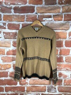 Vintage $1k+ DRIES VAN NOTEN M Southwestern Aztec Navajo Print UK Luxury Sweater