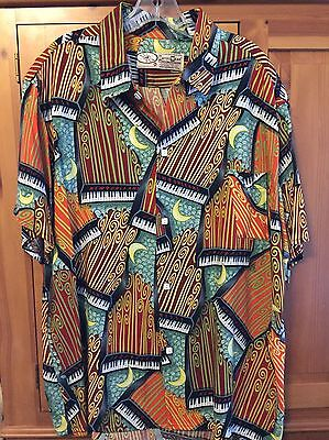 New Orleans Jazz and Heritage Festival Shirt XL Bayou Wear Piano