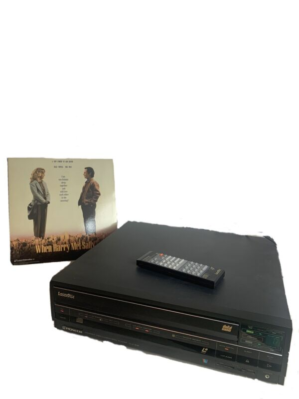 Pioneer CLD-909 Laserdisc Laservision Player Working With Remote And Free Disc
