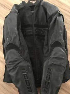 Men's icon sportbike jacket size xl