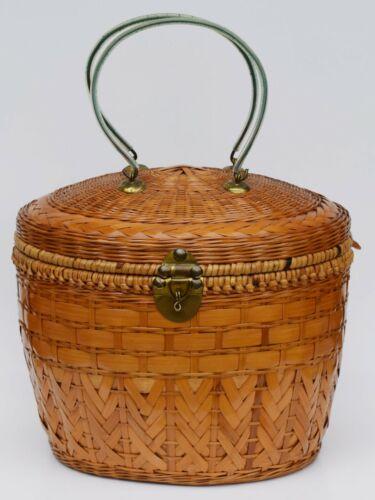 Vintage Collectible Chinese Picnic Basket Tea Basket