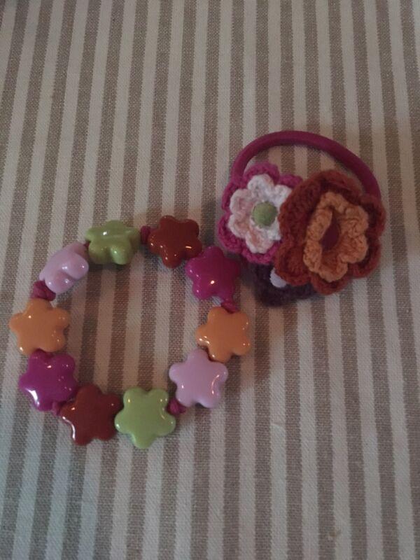 Gymboree ~ Coordinating FALL Star Bracelet AND Ponytail Holder ~ Rare