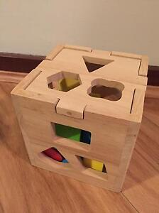 Wooden shape sorter & playskol pounding toy East Perth Perth City Area Preview