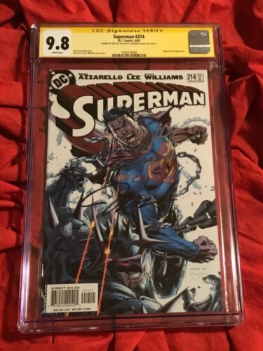 CGC SS 9.8~SUPERMAN #214~SIGNED BY JIM LEE & HENRY CAVILL~JUSTICE LEAGUE MOVIE~P