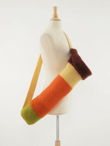 Handcrafted 100% wool yoga pilates mat bag