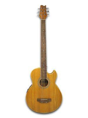 6 String Electric Cutaway Acoustic Bass  Light-Brown, W/4 Band  EQ,