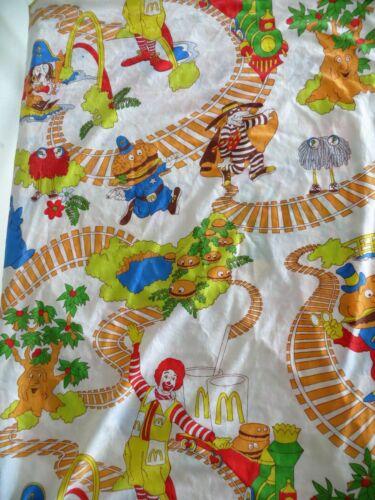 Vintage McDonalds Flat Twin Bed Sheet, Ronald McDonald, Hamburgler 041421