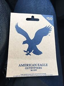 $50 AMERICAN EAGLE/AERIE GIFT CARD - $40 FIRM