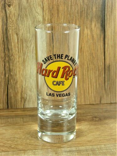 HARD ROCK CAFE LAS VEGAS Save The Planet 4 in. Tall Double Shot Glass Nevada