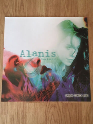 ALANIS MORISSETTE JAGGED LITTLE PILL Album Flat Double Sided Display-Promo 1995