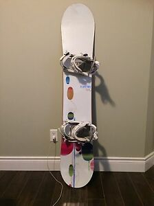 Women's burton lux50 with bindings and boots