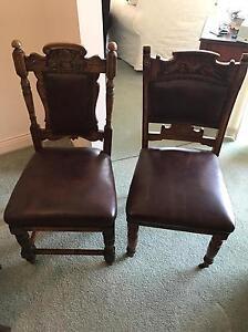 Oak Leather Chairs (Deceased Estate) QUICK SALE Wembley Cambridge Area Preview