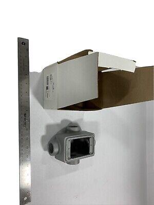 Appleton Fdx-1-100 Malleable Iron Cast Device Box 1 Hubs W Grnd Screw