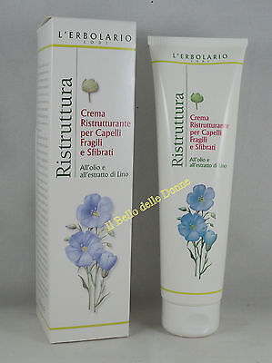 Umstrukturierung Öl (ERBOLARIO Creme Umstrukturierung Haare spröde brüchige 150 ml balsamo Öl lino)