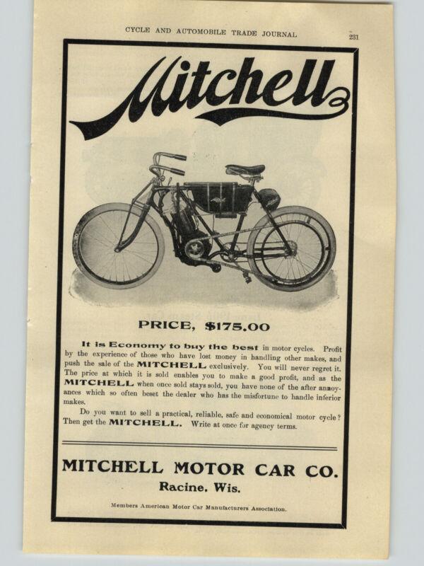 1906 PAPER AD Mitchell Motorcycle $175 Racine Wisconsin
