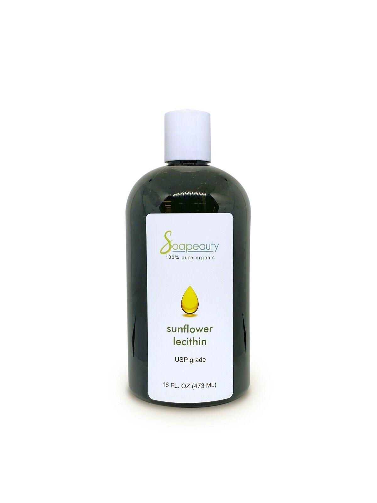 SUNFLOWER LECITHIN USP Grade Unbleached Fluid 100% Pure Natural Organic