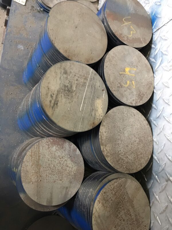 "1/4"" Thick X 5"" Diameter Steel Plate Disc Circle"