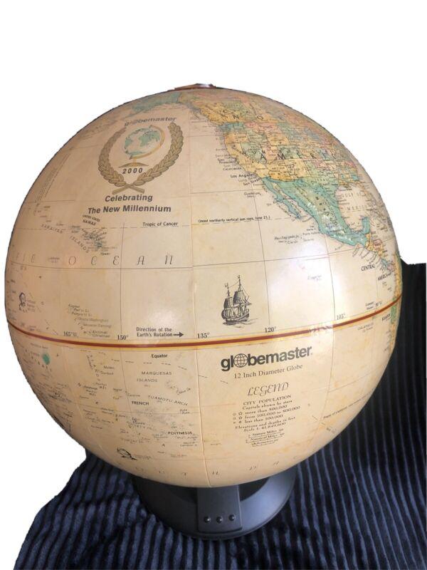 "Replogle Globemaster 12"" inch Globe 2000 Celebrating The New Millennium"