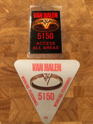 Van Halen Backstage Passes - Authentic - 5150 Tour Satin & Laminate