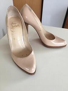 Christian  Louboutin beige heels. Size 38 EU, 6 AUS Elwood Port Phillip Preview
