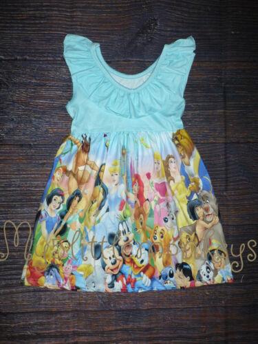 NEW Boutique Disney Cartoon Characters Girls Dress