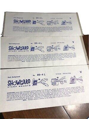 showgard stamp mounts lot