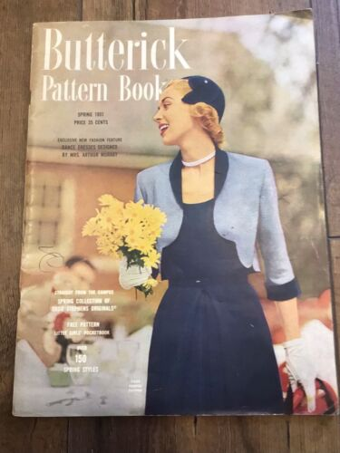 Vintage SPRING 1951 Butterick Sewing Pattern Counter Catalog Book 64 Pages