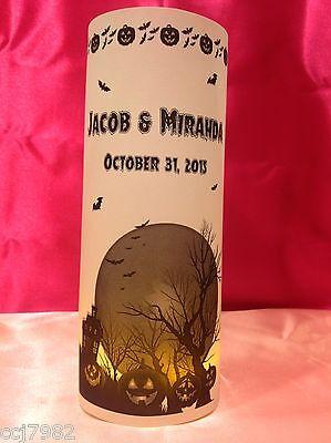 10 Personalized Halloween Luminaries Wedding Centerpieces Decorations #1