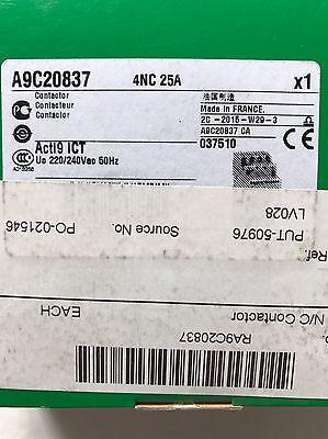 Schneider Acti9 ICT Contactor A9C20837 Acti9 iCT 4NC 25A