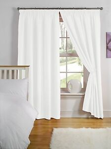 LUXURY THERMAL BACKED LIGHT REDUCING CURTAINS READY MADE 3