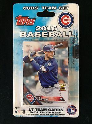 *SEALED* 2016 Topps World Series Chicago Cubs Baseball ~ 17-Card Team Set