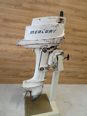 Antique 1959 10 hp Mercury Assess 10A Outboard boat motor