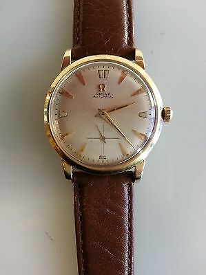 VINTAGE 1952 OMEGA AUTOMATIC WATCH Cal 342 17 JEWELS 14K GOLD FILLED