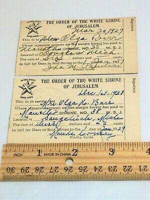 Olga Barr Saugatuck Michigan SIGNED Order of the White Shrine of Jerusalem Cards