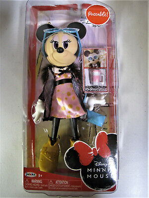 Disney Minnie Mouse Poseable Fashion Doll Sweet Latte Accessories Purse -